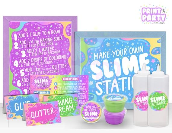photograph regarding Printable Slime Recipe named Printable Slime Creating Station Package, Slime Birthday Bash