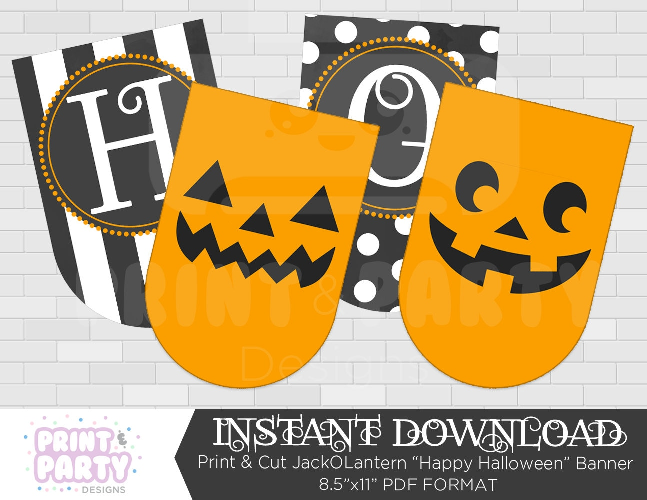 It is a graphic of Astounding Happy Halloween Banner Printable