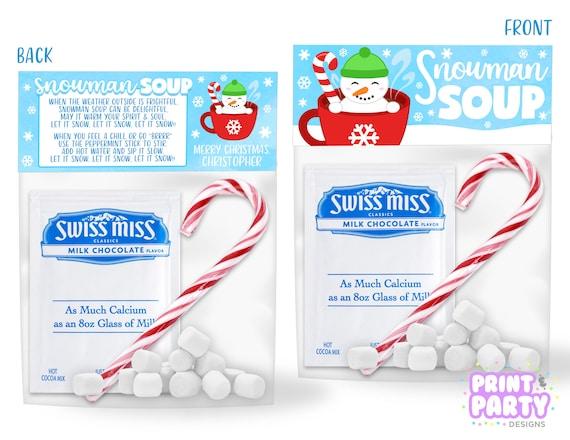 picture about Snowman Soup Printable identified as Printable Snowman Soup Address Bag Toppers, Young children Xmas