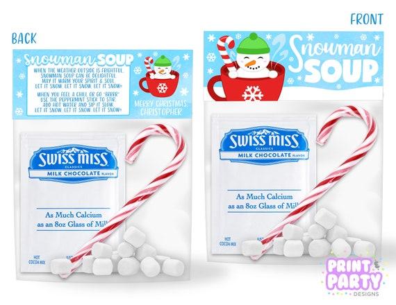photograph relating to Snowman Soup Printable known as Printable Snowman Soup Handle Bag Toppers, Children Xmas