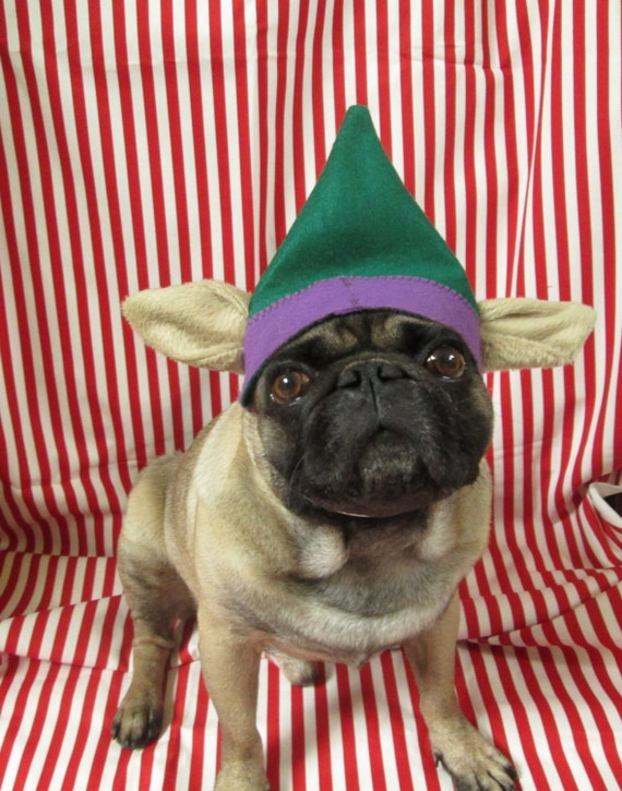 Christmas Hats For Dogs.Puggy Pixie Hat Christmas Hat For Dogs Dog Elf Hat With Ears Dog Fashion Dog Christmas Hat Xmas Pug Hat Dog Costume Dog Clothing Puppy