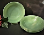 Jadeite Cereal Bowls - Fire King Jane Ray