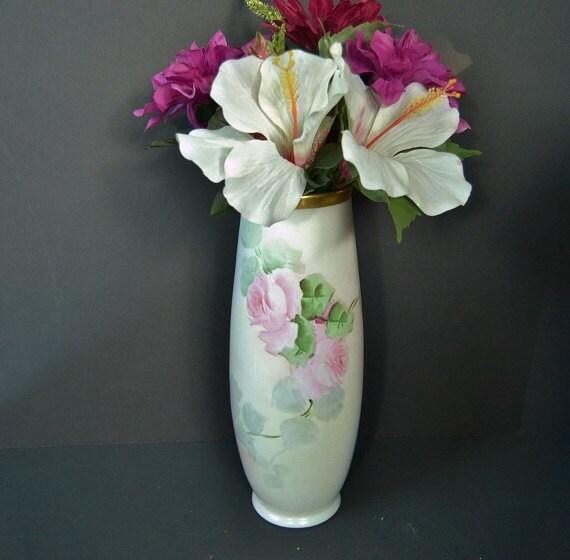 Antique Hand Painted Roses Leonard Vienna Austrian Vase Etsy