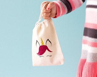 Unicorn Party Favors - Kids Unicorn Gift - Tic Tac Toe Bag - Flower Girl Gift - Childrens Travel Games - Unicorn Busy Bag