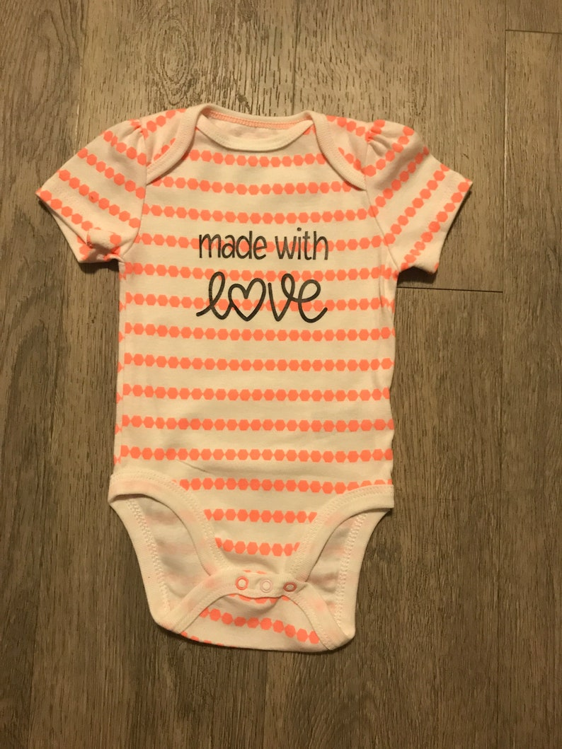 75e620d1e70 Made With Love Baby Onesie
