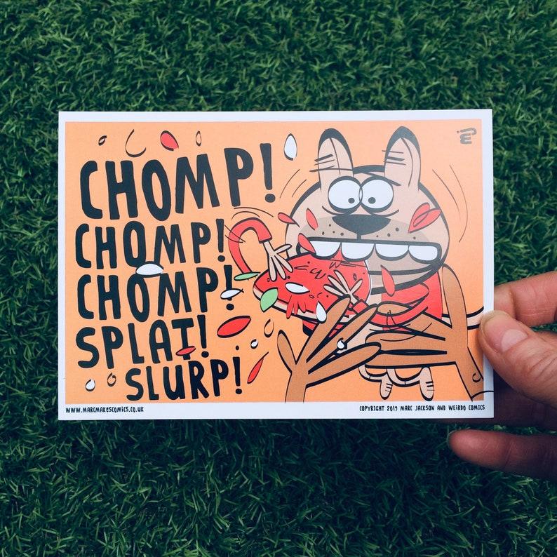 CHOMP A6 Postcard image 0