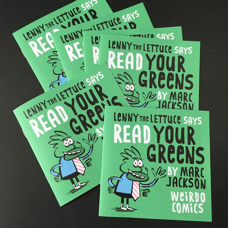 Lenny the Lettuce says READ YOUR GREENS image 0