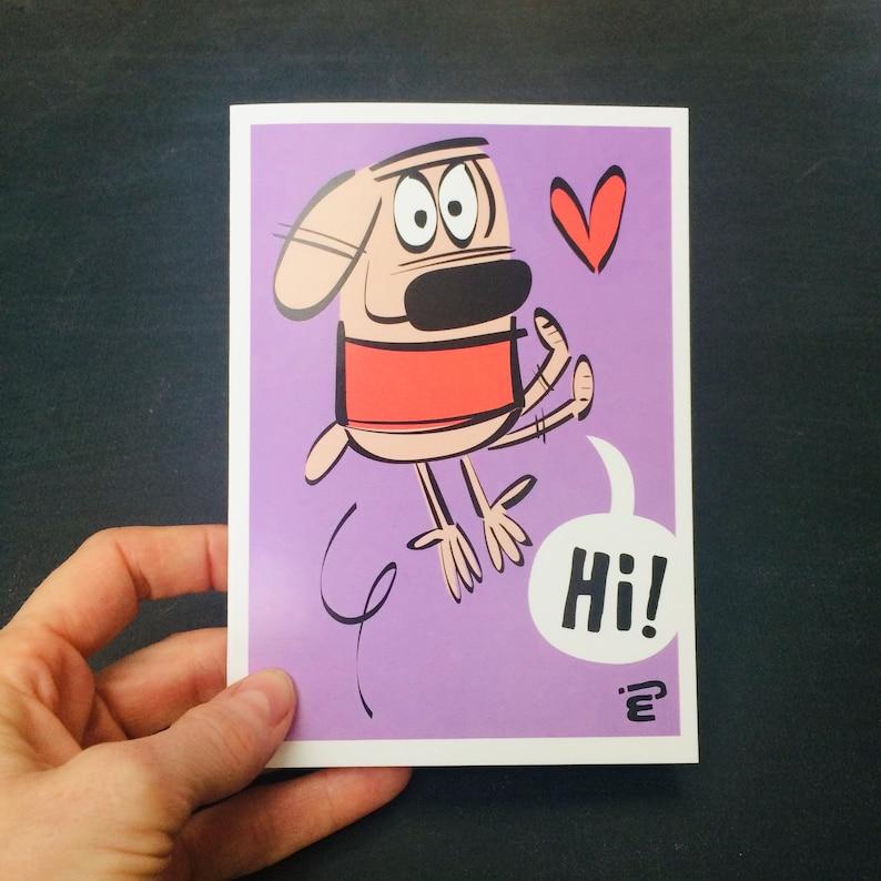 Hi A6 Greetings Card image 0