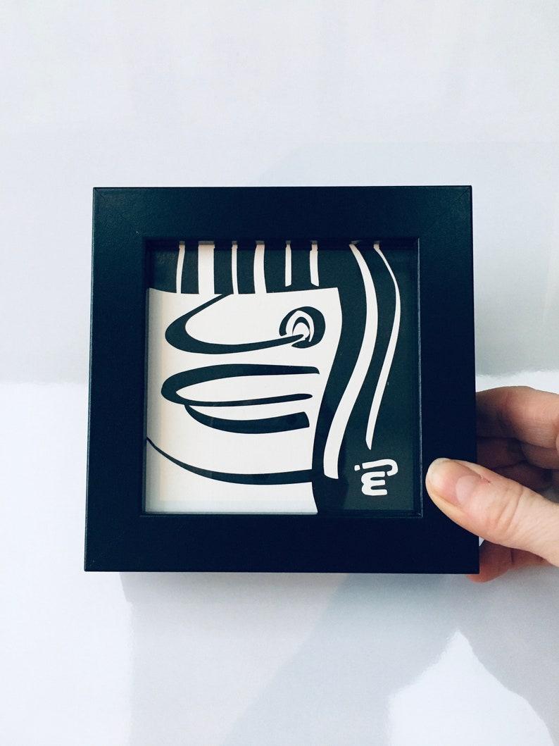Pierced Patsy Mini Framed Cartoon Print  125x125mm image 0