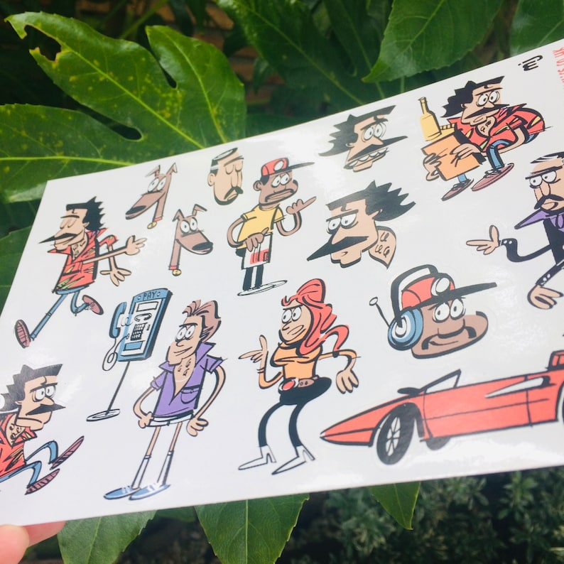 Magnum P.I. A5 Sticker Sheet image 0