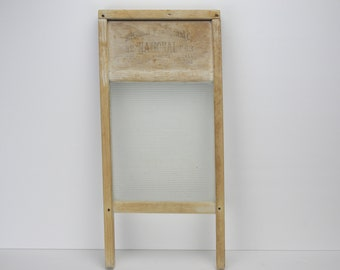 Vintage Glass Washboard | National Washboard Company | # 863