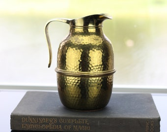 Vintage Hammered Brass Pitcher | Neiman Marcus | Made in Italy