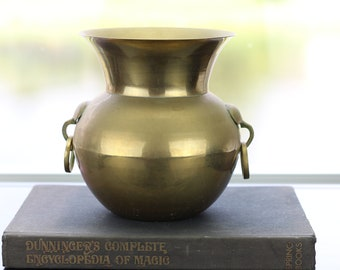 Vintage Solid Brass Spittoon