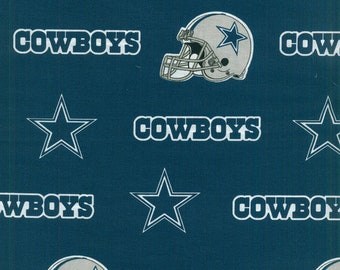Dallas Cowboys Fabric By The Cut | DIY Face Mask | 100% Cotton | NFL Football | Blue | White | Fat Quarter | 1/4 Yard | 1/2 Yard | 1 Yard