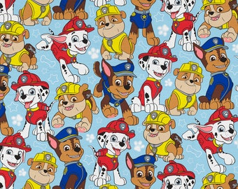 Blue Paw Patrol Face Mask | 100% Cotton | Double Sided | Children's Mask | Adult Mask | Nickelodeon Print | Puppy Dog | Blue | Red | Green
