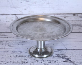 Vintage Footed Cake Stand Tray by Legion Utensils Wedding or Dessert Tray Patented 11-6-51 Hotel Serveware Serving Display