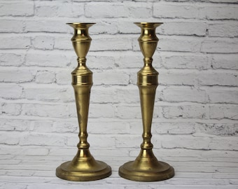 B. Altman & Co. Pair of Vintage Brass Candle Holders
