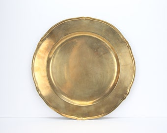 Vintage Brass & Copper Serving Tray
