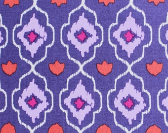 Emma & Mila Purple Lozenge Fabric By The Cut | DIY Face Mask | 100% Cotton | Red | White | Fat Quarter | 1/4 Yard | 1/2 Yard | 1 Yard