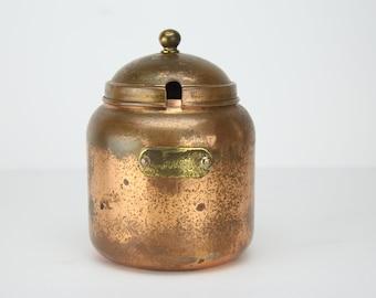Vintage Copper Jam Jar