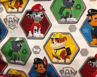 White Paw Patrol Face Mask | 100% Cotton | Double Layer | Children's Mask | Adult Mask | Nickelodeon Print | Puppy Dog | Blue | Red | Green