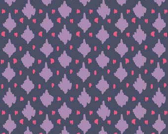 Emma & Mila Purple AM Diamond Fabric By The Cut | DIY Face Mask | 100% Cotton | Red | Fat Quarter | 1/4 Yard | 1/2 Yard | 1 Yard