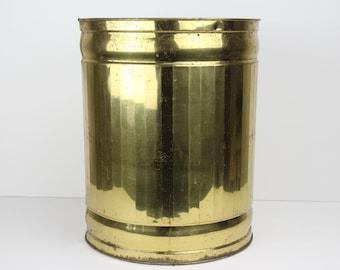 Vintage Bristol Brass Trash Can
