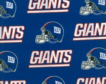 NY Giants Fabric By The Yard | DIY Face Mask | 100% Cotton | NFL Football | Blue | White | Red | Fat Quarter | 1/4 Yard | 1/2 Yard | 1 Yard