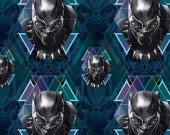 Black Panther Fabric By The Yard | DIY Face Mask | Cotton | Black | Green | Purple | Fat Quarter | 1/4 Yard | 1/2 Yard | 3/4 Yard | 1 Yard