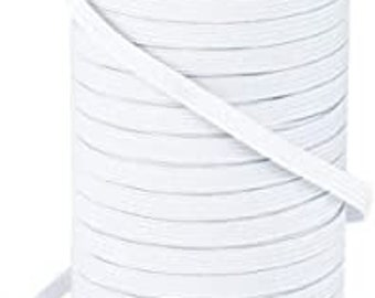"1/4"" White Elastic By The Yard 