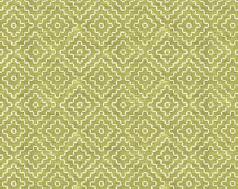 Lime Diamonds Fabric By The Cut | DIY Face Mask | 100% Cotton | Green  | White | Geometric | Fat Quarter | 1/4 Yard | 1/2 Yard | 1 Yard