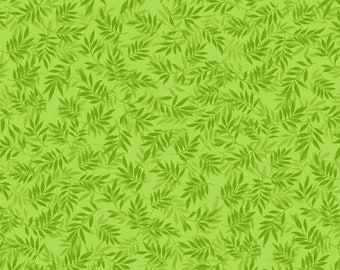 Sweden Vineyard Green Glow Fabric By The Cut | DIY Face Mask | 100% Cotton | Leaf | Fat Quarter | 1/4 Yard | 1/2 Yard | 1 Yard