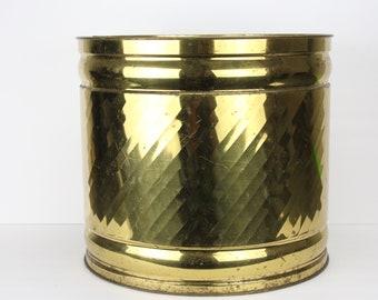 Vintage Bristol Brass Storage Bin | Flower Pot | Farmhouse Decor | Antique Brass | Storage Bin | Home Decorating | Made in America | Planter