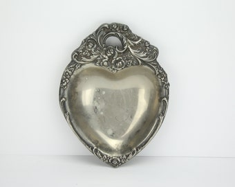 Vintage Leonard Silverplate Heart Dish | Made in Italy