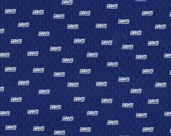NY Giants Fabric By The Yard | DIY Face Mask | 100% Cotton | NFL Football | Blue | White | Fat Quarter | 1/4 Yard | 1/2 Yard | 1 Yard | Mini
