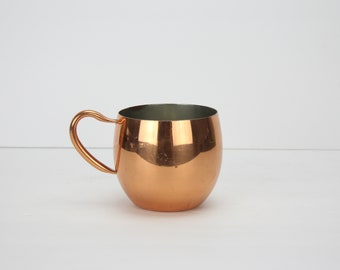 Vintage Tagus Solid Copper Moscow Mule Cup | Copper Handle