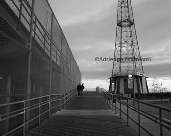 Brooklyn Parachute Jump Photography Coney Island Beach Boardwalk Photo Black & White Images New York NYC Photograph