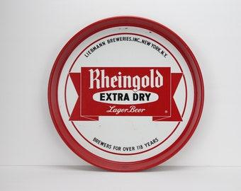 Vintage Metal Tray | Rheingold Beer