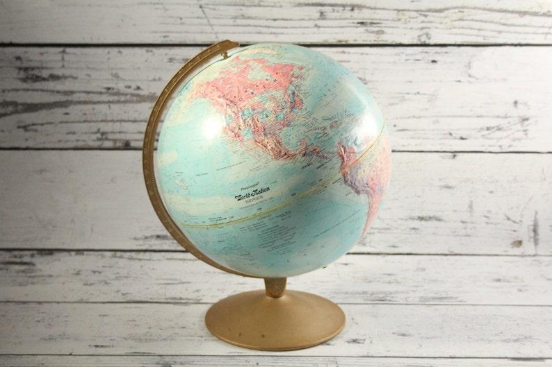 Wereldbol Met Licht : Vintage replogle globe wereld natie licht blauw gekleurde etsy