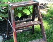 Small Wood Step Ladder Plant Stand