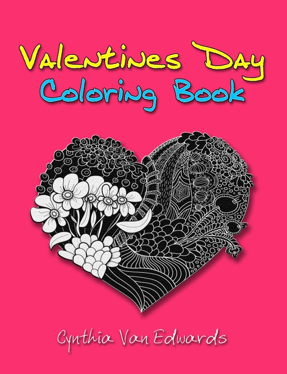 Valentines Day Coloring Book: The Valentine\'s Day Gift | Etsy