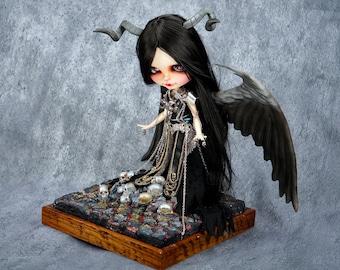 custom blythe doll ooak Night evil   by SiiS