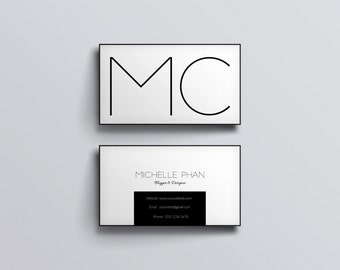 modern business card template creative calling card etsy