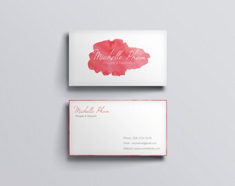 Modern Business Cardbusiness Card Etsy
