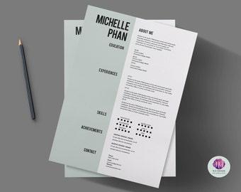 resume template cv template cover letter template elegant simple design professional resume resume design