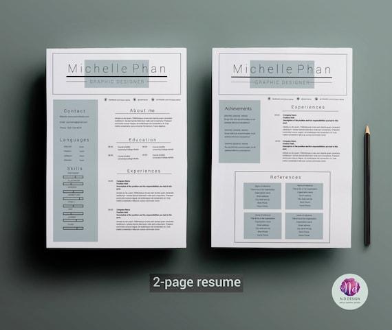 mod u00e8le de cv de 2 pages  lettre  cv mod u00e8le  mot curriculum