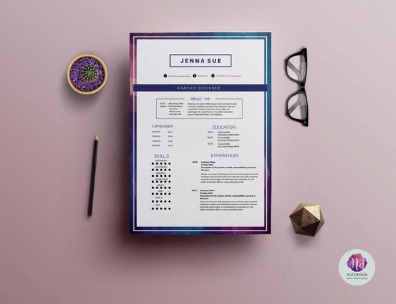 Moderne 2 Seitenvorlage Lebenslauf / CV Anschreiben Vorlage