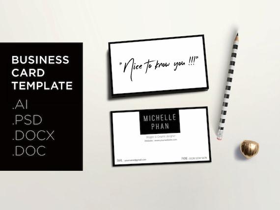 Modern Business Card Template Creative Calling Card - Modern business card template