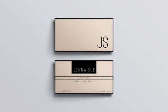 modern business card business card etsy