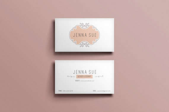 Elegant Business Card Template Business Card Designcustom Etsy